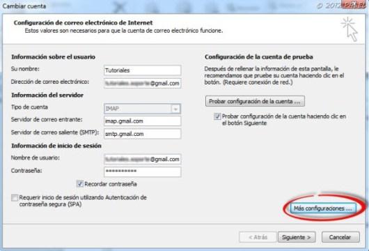 servidor de correo entrante gmail mac
